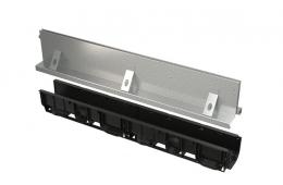 Kanal sa 160 mm simetričnim nastavkom i upojnim prirezom, pocinčani/inox