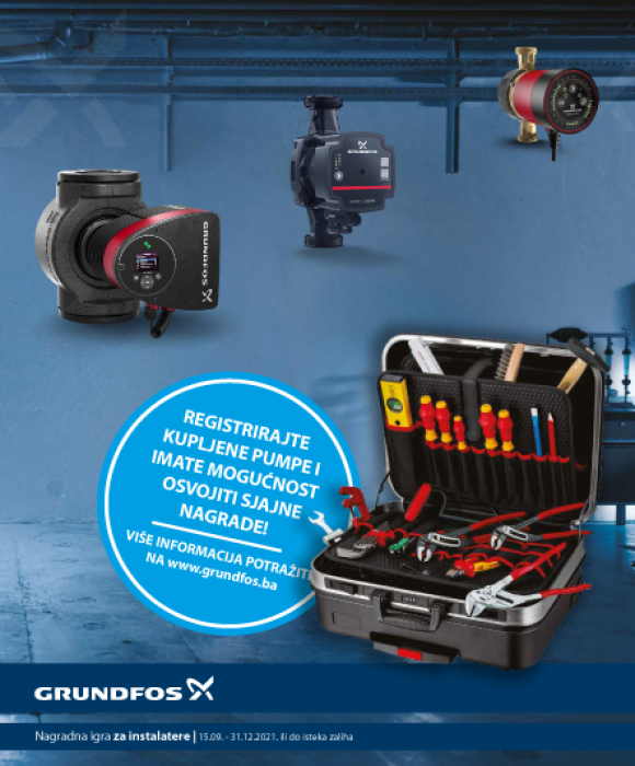Kupite Grundfos cirkulacijske pumpe i osvojite KNIPEX alat!